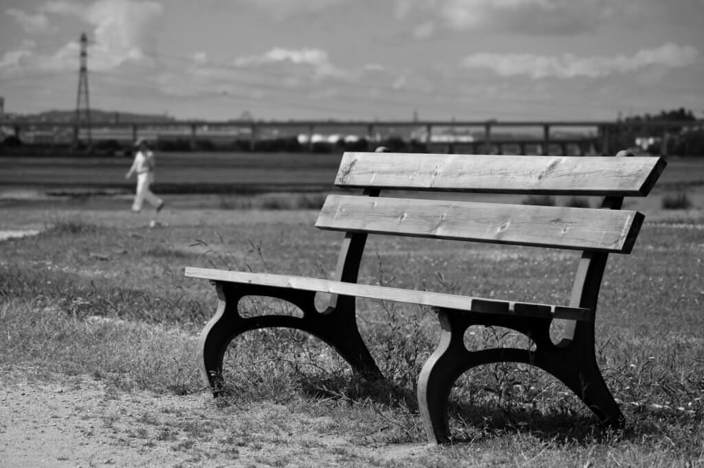 lonely-park-bench
